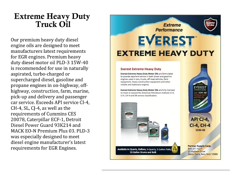 Compare Everest Motor Oil To Others American Made Motor